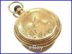 Waltham Royal Model 1873 Pocket Watch 14K Yellow Gold Demi-Hunter Case 8s 11j