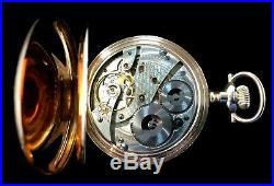 Waltham Vanguard 16 Size 19 Jewel Fancy Colored Dial Fancy Hunter Case Near Mint