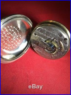 Waltham pocket watch 18s, 7 Jewel, Silveroid Case, Pendant Wind & Set