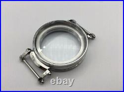 Watch Case 47mm Stainless Steelfor Conversion Antique Pocket Watch Movement