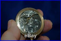 Working 1919 Waltham 15 jewels pocket watch with sales case