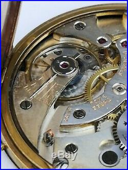 Working High Quality Tissot Locle Pocket Watch Movement From Scrapped Case (E32)