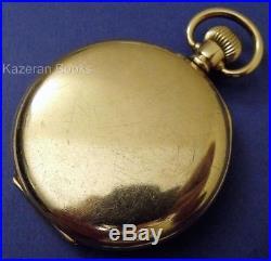 Working Vintage Tavannes 16 Jewel Gold Plated Half Hunter Case Fob Pocket Watch