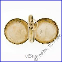 Working Waltham 16s 17j Mechanical Pocket Watch 14k Gold Wadsworth Hunter Case